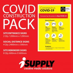 Covid builders signs