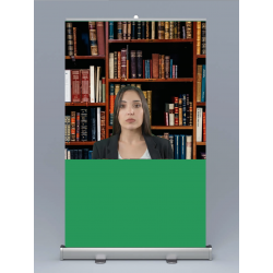 Add a suitable background using your video recording or conferencing tool