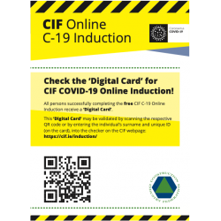 CIF - Check Induction Card