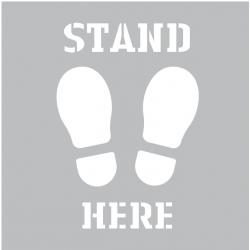 Stand Here Spray Stencil