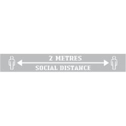Social Distance Spray Stencil