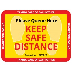 Keep Distance Floor Sign