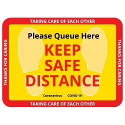 Keep Distance Floor Sign
